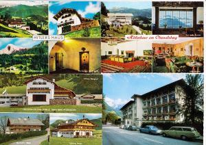 """Sammlung Nachkrieg, Obersalzberg meist gute AK von NS-Bauwerken. """"Naja"""" Karten. Aber die Gegend lebt nicht schlecht von dieser Geschichte"""