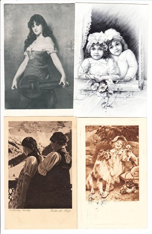 Berühmte Druckerei Victor Ua Die Jugend Karten 2 Ak An Herrn