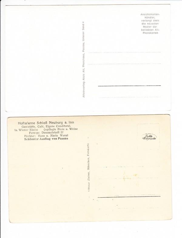 Neuburginn 2 Ak Vorkrieg 1 X örtlicher Verlag 1 X Ottmar Zieher
