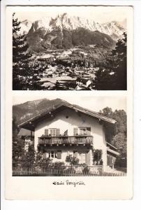 Grainau Einzelhaus-Foto-AK Seichler, dortselbst Haus Bergruh, Baderseeweg 12 gelaufen 1963