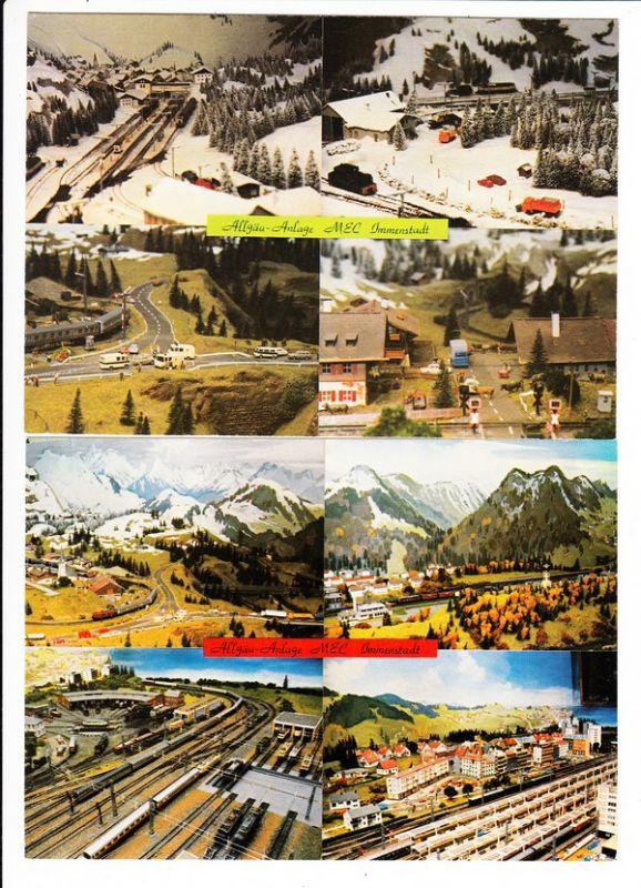 Allgäu Modellbahn-Anlage Modell Eisenbahn Club Immenstadt, 2 nette AK