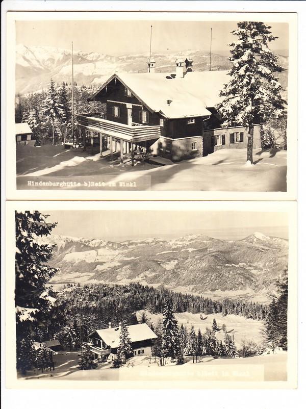 2 AK Hindenburg-Hütte, oberhalb Reit im Winkl des 21. Reichswehr Infanterie-Regiments in Nürnberg