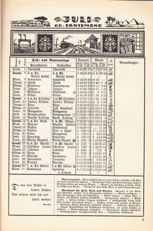 Kalender 1933, im Dienst und Daheim für Post- und Verkehrswesenbedienstete + Kalender, ZVAB mehrfach!