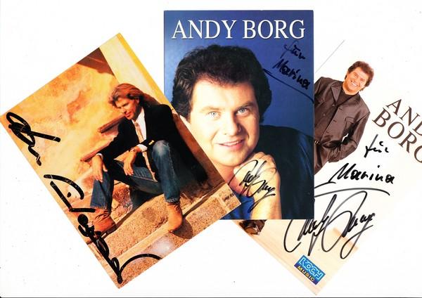 3 AK seichte Austria-Unterhaltung, 2 x Andy Borg, Hansi Hinterseer, alle mit O-U