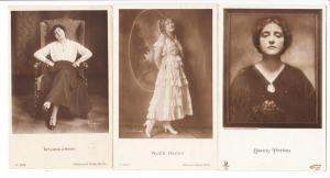 3 Schauspielerinnen, alle 1917 FP-gelaufen, 2 x FLAK Hamburg, 1 x FLAK Frankfurt