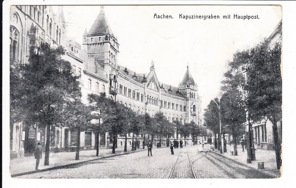 Aachen, nicht so rares Motiv, aber Super-Feldpost, Flak-Batterie 527