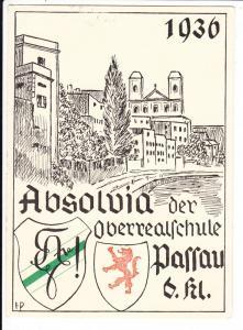 Passau, Absolvia Minor 1936, hakenkreuzfrei! über 32 Original-Unterschriften!