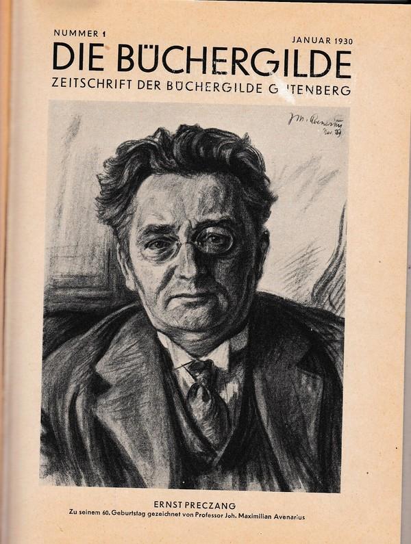 Jahresband 1930 Die (gewerkschaftsnahe) Büchergilde, 12 gebundene Hefte, beste Erhaltung. Gute Artikel und Graphiken, reihenweise
