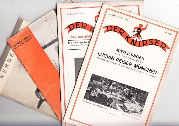 Photographie 10 Foto-Zeitungen 1929/31 Der Knipser, 4 x die bunten HEfte, 3 x je München 4 x Agfa-Werbehefte zum Bruchteil der Ebay-Ansätze