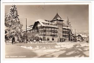 Nette, guterhaltene aber harmlose AK Oberstdorf, nach Jugoslawien 1937, dort Postlagerndgebühr frankiert