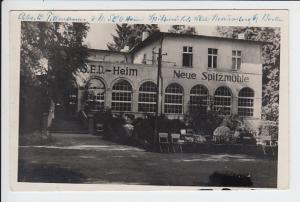 O-Foto SED-Heim Spitzmühle Foto Siol, gelaufen ab dortselbst 1951. Kleinstauflagig