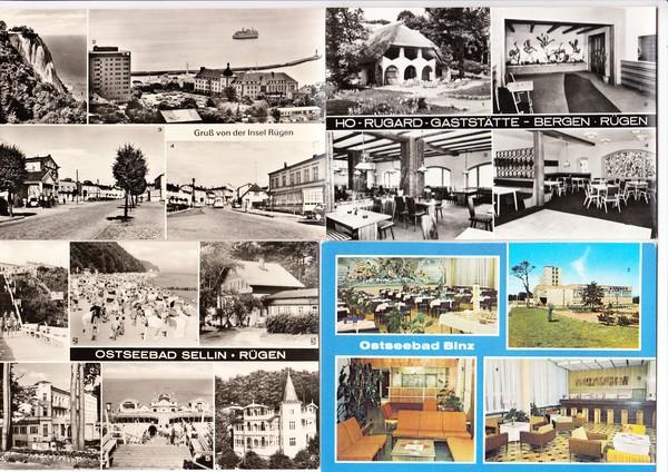 Über 40 besterhaltene + einige mit Mängeln Rügen-AK, DDR-Zeit, meist gelaufen