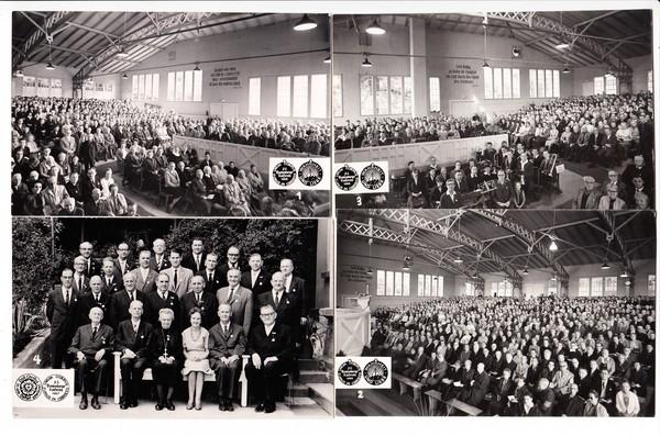 6er Serie O-Foto-AK, 72. Blankenburger Konferenz 1966, wohl katholisch, unum corpus, sumus in christo - wir sind ein Körper in Christus, interessante Bilder zum Thema Atheismus /DDR