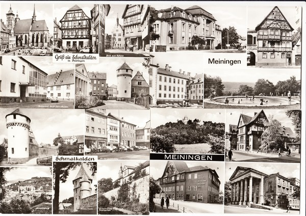 Schmalkalden/Meiningen, 12 s/w AK, DDR-Zeit, beste Erhaltung