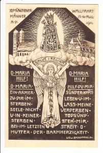 Männerwallfahrt München - Altötting August 1914, Anlasskarte, Beistempel, beste Erhaltung