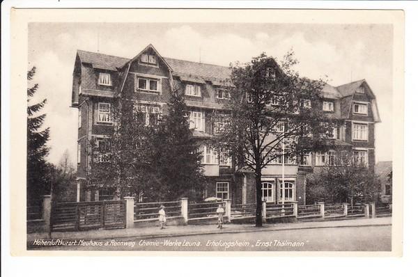 """Neuhaus am Rennweg, Leuna Erholungsheim """"Ernst Thälmann"""" frühe DDR, 1950"""