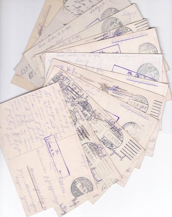 Kleine thematische Sammlung, 10 Pracht color AK Kinder/Krieg/Verharmlosung, alles Feldpost an gleiche Adresse 1915 und 1916, gute Künstler Fialkowska, Carl Moos (!) etc. etc 4