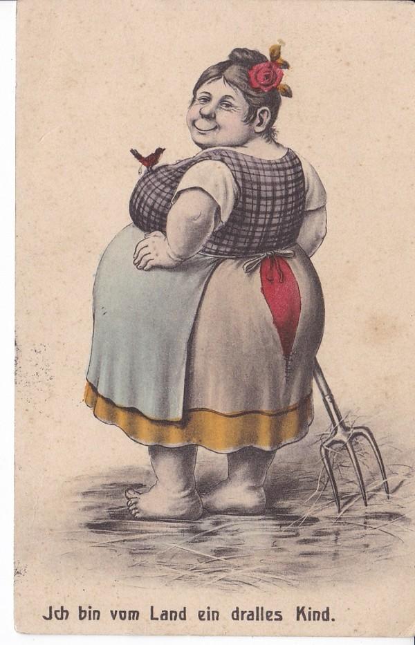 Portofreie Karte 1913, Dralles, gleichwohl frohes Mädel! Alle lieben Dralle?