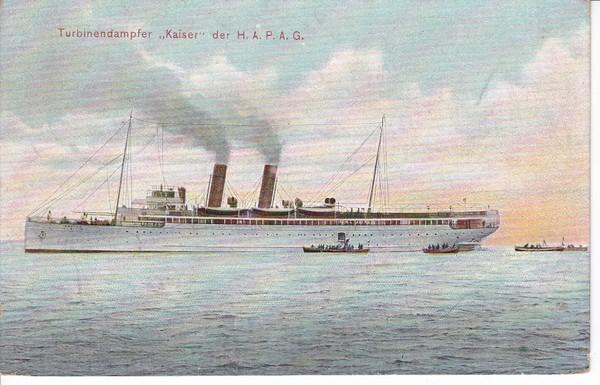 Soldatenpost 1913, S.M.S. Kaiser, portofrei ab Helgoland