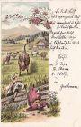 Alpiner Humor, Litho gelaufen 1899