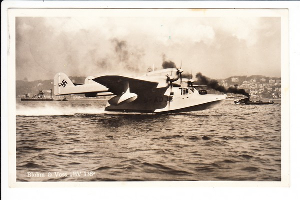 Fliegerhorst Kassel, AK ab dort, 1939 alle Stempel! Dazu Blohm + Voss Flugboot BV 138
