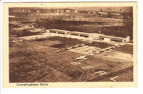 Berlin, Lichtdruck nahe damaliger Zentralflughafen, geflogen 1927