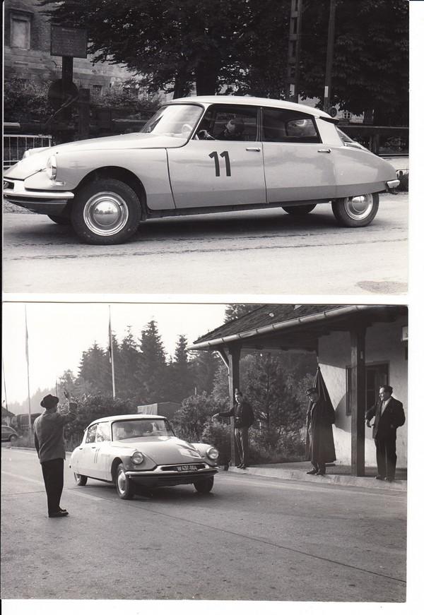 Citroen, 9 Presse-Fotos ca. 1960/62, Citroen DS 19, die Göttliche, tolles Auto, kein Bremspedal, Hydropneumatik, aufwendig, aber unerreicht, RS: Agenturstempel