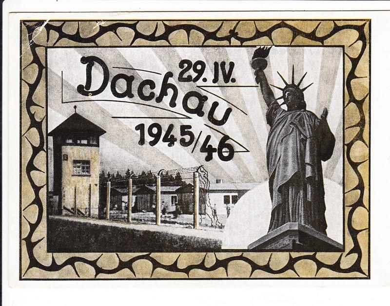 1 Jahr Befreiung Dachau, deutsche Auflage! SST kl. Eckfehler