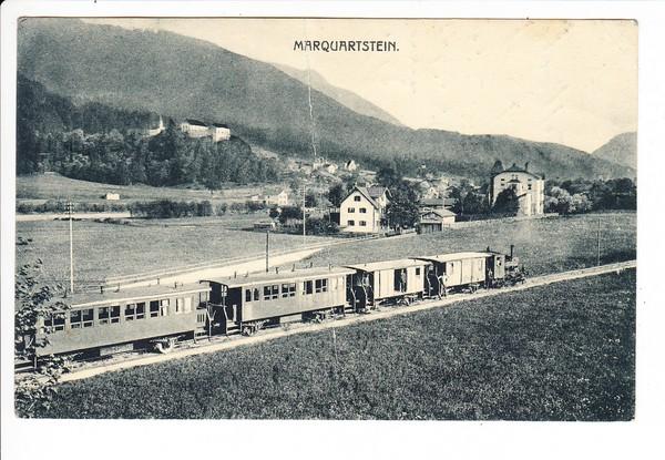 Marquartstein, Sonderform 1919 Marquartstein - Übersee, Zug 41, 1921 gel. Bildseite: Der Zug! guter Beleg, fast perfekt, aber senkrechter Bug