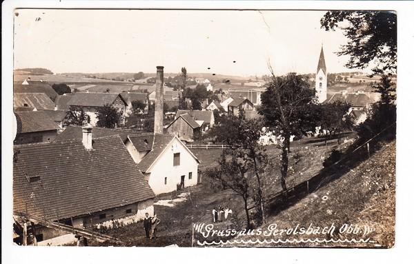 Gerolsbach, O-Foto-AK, gel. 1929, beste Erh., Brauerei!