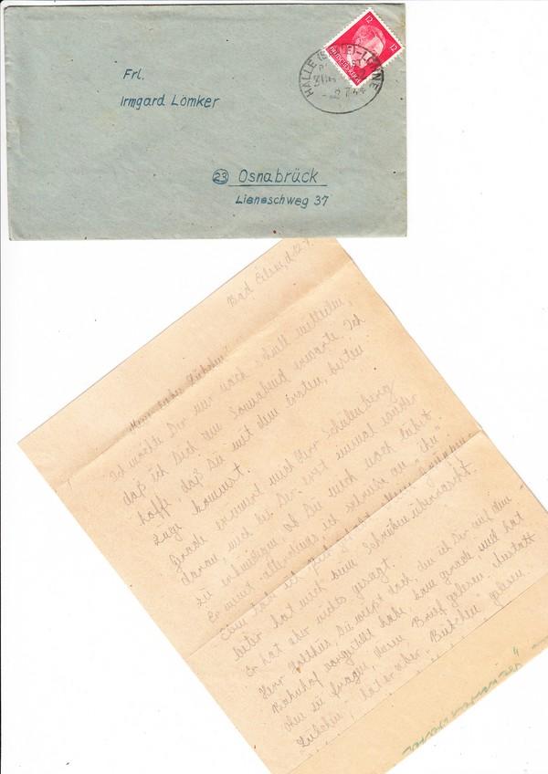 Halle - Löhne, 1944 Brief mit Inhalt Lesbische Frau an Freundin