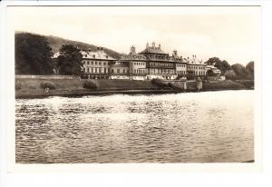 """Dresden Schloss Pillnitz, RS: """"Achtet auf den Kartoffelkäfer"""" früher DDR-Stempel mit alter PLZ 10 (Dresden) Der Kartoffelkäfer, im kalten Krieg angeblich von den Amerikanern über der DDR abgeworfen"""