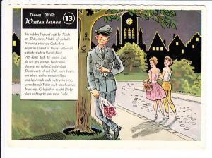 verliebter und braver Bundeswehrler, wartend, gel. 1963 Zeitgeist-Karte