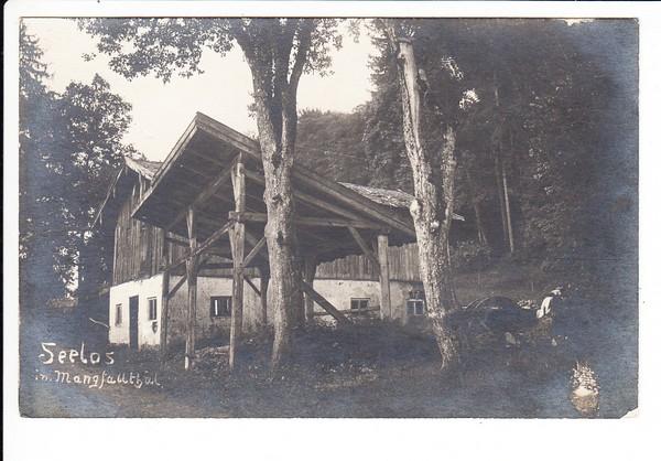 Seelos / Mangfalltal, O-Foto-AK, Tal noch mit Th, also 1905 (Rechtschreibreform!)