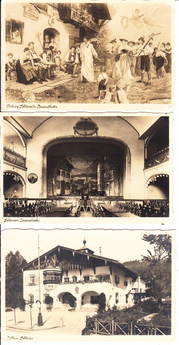 3 Ak Schliersee, 2x Bauerntheater ca 1935