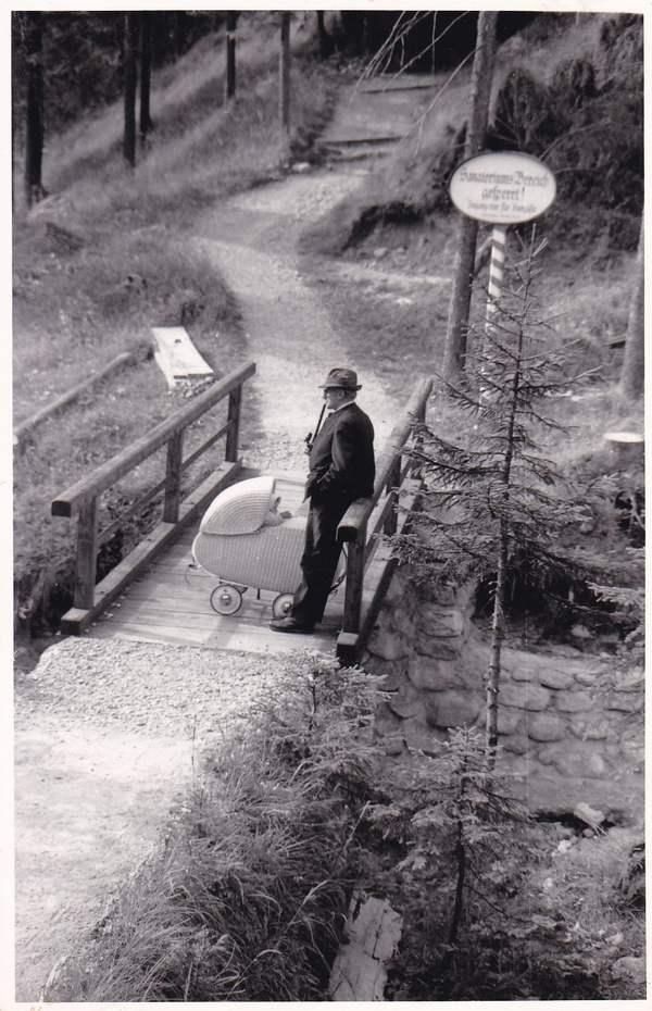 O-Foto, gel. Bild u. Text vom Kiem Paulis, legendärer bayr. Volksschauspieler