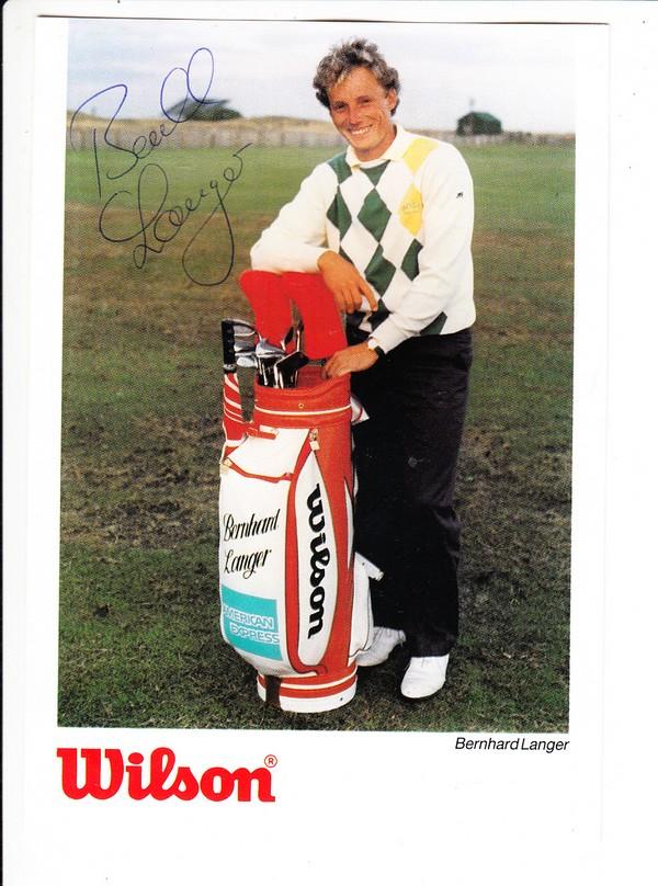 Bernhard Langer, Golf-Berühmtheit, O-U