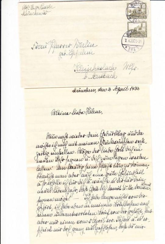 Elisabeth von Linde(Gründerdynastie!) 1932 4 seitig handgeschrieben, Mi 7,50?, beste Erh.