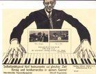 """Francois Dufour """" Ein-Mann-Jazz-Kapelle, originelle mechanische Werbekarte"""