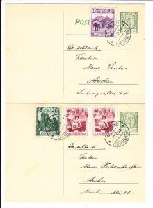2 auffrankierte GS Lichtenstein 1931 an gl. Adresse, Katalog?