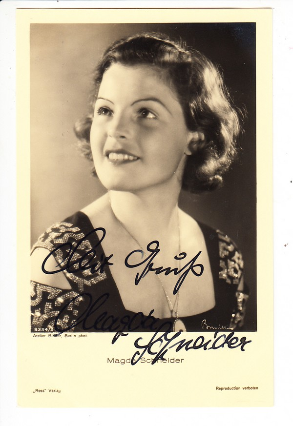 Magda Schneider, Mutter der Romy... O-U auf Ak