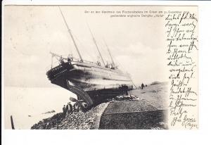 """Italia"" gestrandet Bremerhaven 31.12.1904, gel. 1/1905"