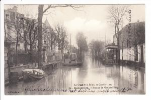 Hochwasser Paris, gel. innerhalb Frankreichs zum Ereignis, deutscher Text!