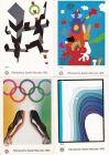 Olympia 1972, 4 graphisch gute Bruckmann-Karten nach Plakaten, Originale, es gibt sie in NL schon neu aufgelegt!