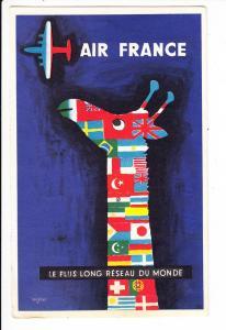 Air-France, lt.AK größte Fluglinie der Welt, inter. Weg Chicago - Salzburg 1957