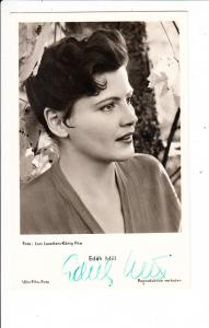 Edith Mill, 1925-2007, geb. in Kanada, Schauspielerin ab UFA bis 1969 O-U, rar!