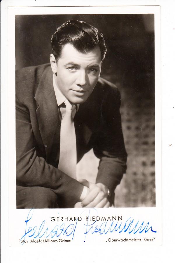 Gerhard Riedmann 1925-2007, deutschsprachiger Schauspieler österr. Nationalität, bester Bühnen Zürich, Wien..., Kammerspieler etc., Filmografie 1948-1993, rar! O-U