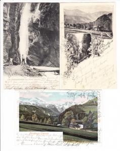 Garmisch-Partenkirchen, Partnach, Graseck, 3 tadellose AK mit PH-Stelle Vordergraseck, beste Erh.