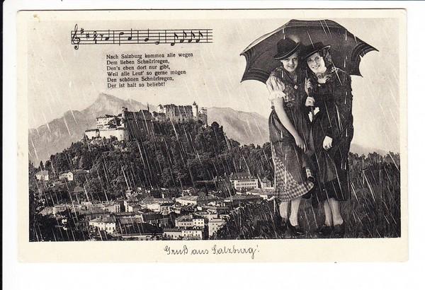 1937, AK Salzburg - Zürich, nicht erklärliches Nachporto