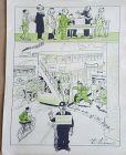 Weimarer Republik, Werbung für Briefahl Berlin, tolle Zeichnung Paul Simmel
